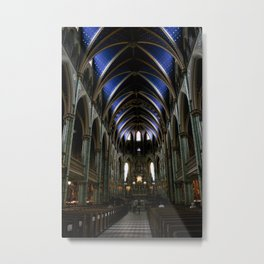 Inside Ottawa's Notre Dame Cathedral Metal Print