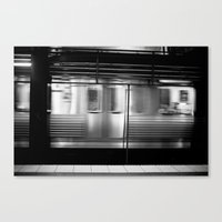 subway Canvas Prints featuring Subway by Kameron Elisabeth