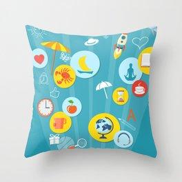 computer technology Throw Pillow