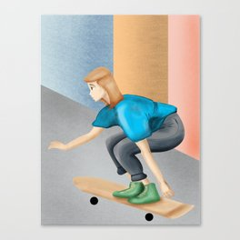 Skatergirl Canvas Print