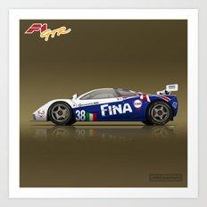 1996 McLaren F1 GTR #16R FINA Art Print