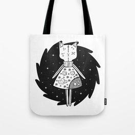Halloween Story - Voodoo Cat Doll Tote Bag