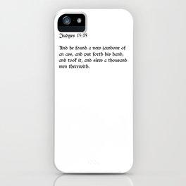 Judges 15:15 iPhone Case