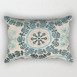 Ferghana Suzani  Antique North East Uzbekistan Embroidery Rectangular Pillow