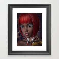 Oriental Eyes Framed Art Print