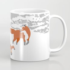 Foxes - Winter forest Mug