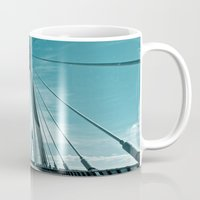 bridge Mugs featuring Bridge by Sandy Broenimann