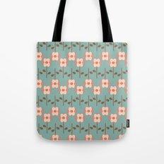 Geo Flower Line Tote Bag