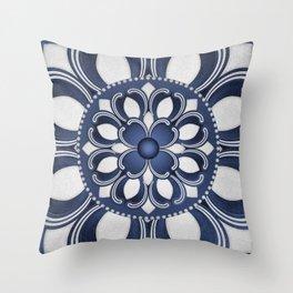 Spanish Flower in Blue Throw Pillow