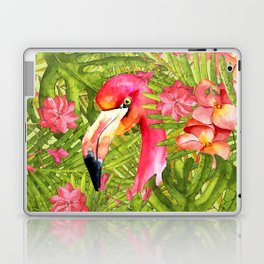 Flamingo in Jungle Laptop & iPad Skin