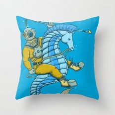 Deep Sea Hunting Throw Pillow