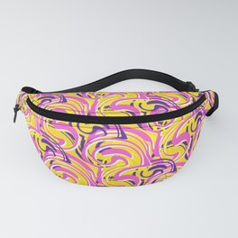 Psychedelic pattern vector design Fanny Pack