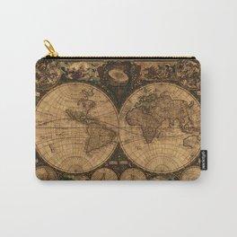 Nova Totius Terrarum Vintage Map Carry-All Pouch