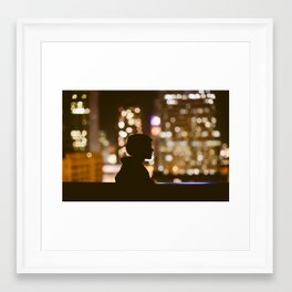 City Lights Framed Art Print