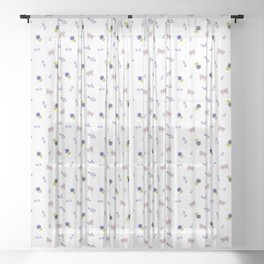 Goats and Pineapples Sheer Curtain