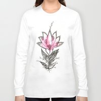 lotus Long Sleeve T-shirts featuring Lotus by Himadri Pachori