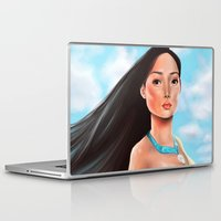 pocahontas Laptop & iPad Skins featuring Pocahontas by Sam Pea