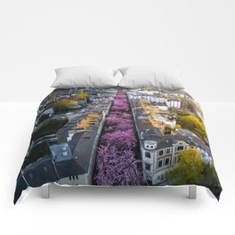 Colorful Street Comforters