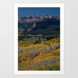 Aspens and the Castle Art Print