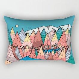 Forest and hills of autumn Rectangular Pillow