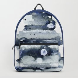 Indigo Abstract Watercolor No.1 Backpack
