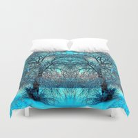 jack frost Duvet Covers featuring Frost by haroulita