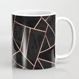 Velvet Black & Rose Gold Coffee Mug