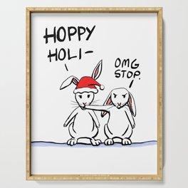 Hoppy Holidays Serving Tray
