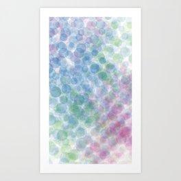 blue green red dots Art Print