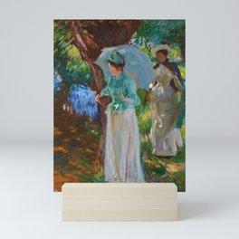 """John Singer Sargent """"Two Girls with Parasols at Fladbury"""" Mini Art Print"""