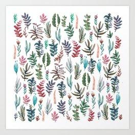 water color garden Art Print