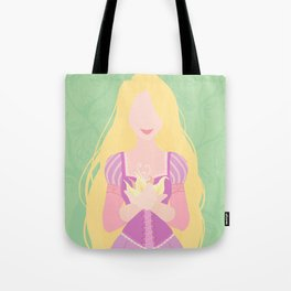 Minimalist princess series: Rapunzel Tote Bag