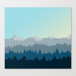 Face This Mountain (No Text) Canvas Print