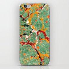Marbled Green Orange iPhone & iPod Skin