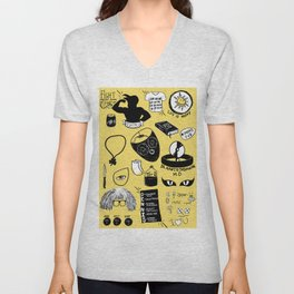It's Always Sunny doodles Unisex V-Neck