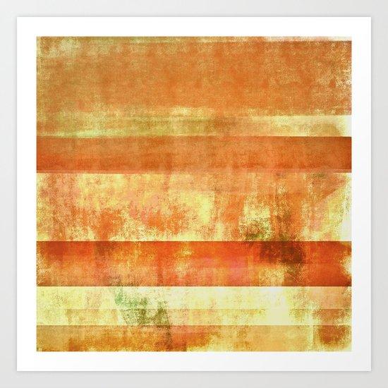 Orange abstract Art Print