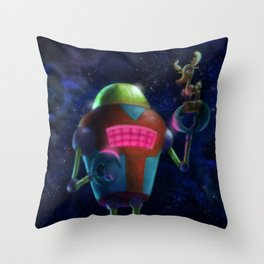 Randy the Robot Throw Pillow