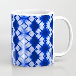 indigo shibori print Coffee Mug