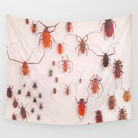 insects Wall Tapestries featuring Insects by Guo Shiyuan