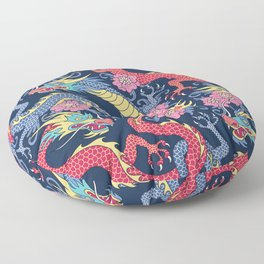 East Dragons Floor Pillow