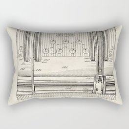 Automatic Bowling Machine Vintage Patent Hand Drawing Rectangular Pillow