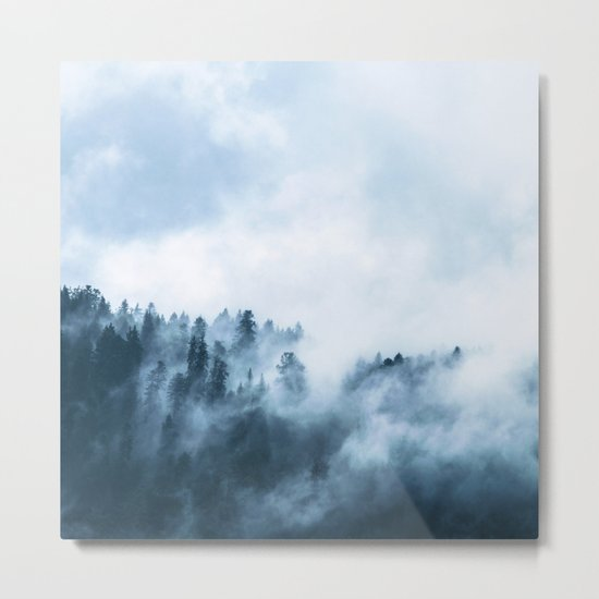 The Wilderness, Foggy Forest Metal Print