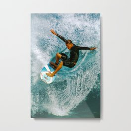 Andy Irons, Off the Wall Metal Print