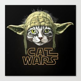 Cat Wars Canvas Print