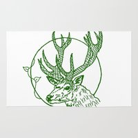 coasters Area & Throw Rugs featuring Forest Lover's Deer by KimberlyVautrin