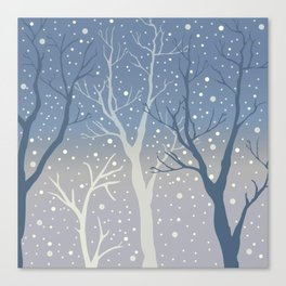 Winter coming Canvas Print