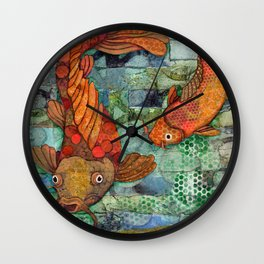 Koi Pair Wall Clock