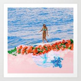 aloha gumamela surfin bougainvillea ala lea Art Print