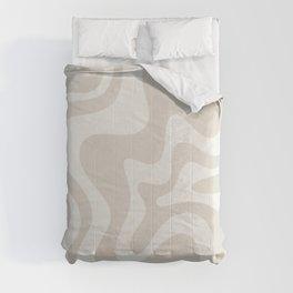 Liquid Swirl Contemporary Abstract Pattern in Mushroom Cream Comforters