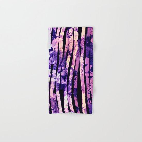 purple floral stripes Hand & Bath Towel